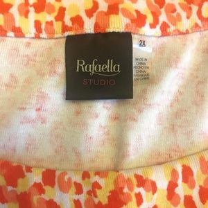 Rafaella Plus Size Scoop Neck Knit Top